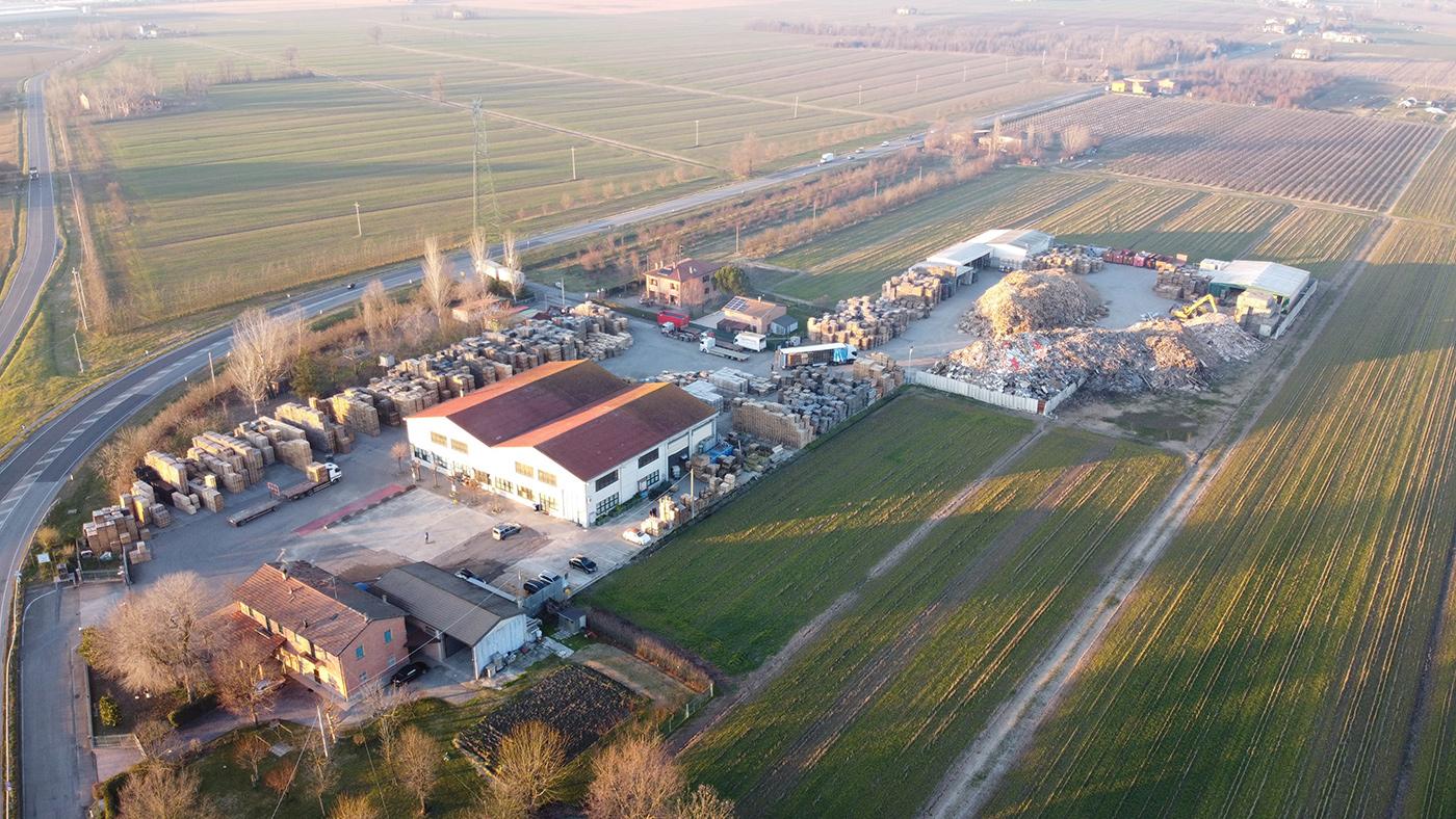 Vista aerea sede Nuova Italpallets
